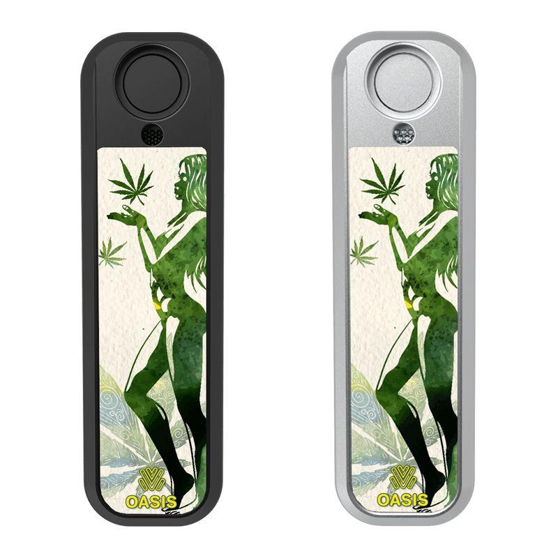 Lady & Cannabis Leaf